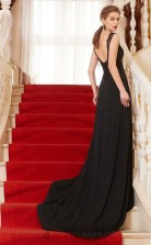 Trumpet/Mermaid Spandex Black Illusion Long Formal Prom Dress(JT2640)