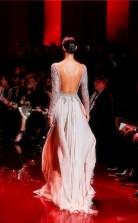 A-line Tulle Lace Beige Bateau Long Sleeve Long Evening Dress(JT2650)