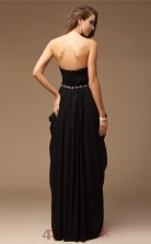 Sheath/Column Chiffon Black Sweetheart Floor-length Evening Dress(JT2668)