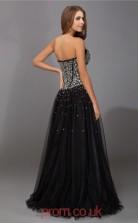Black Tulle Princess Sweetheart Floor-length Evening Dresses(JT2706)