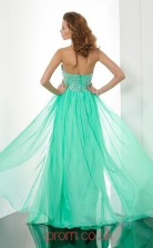 Cyan Chiffon A-line Halter Floor-length Evening Dresses(JT2718)
