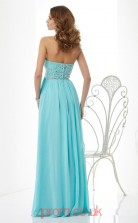Cyan Chiffon A-line Sweetheart Floor-length Evening Dresses(JT2725)