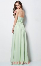Sage Chiffon A-line Sweetheart Floor-length Prom Formal Dresses(JT2729)