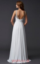 Ivory Chiffon A-line V-neck Floor-length Prom Formal Dresses(JT2740)