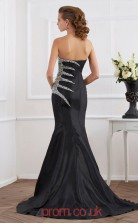 Black Taffeta Trumpet/Mermaid Sweetheart Floor-length Evening Dresses(JT2750)