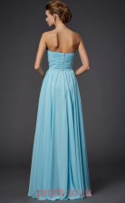 Pool Chiffon A-line Strapless Floor-length Prom Formal Dresses(JT2753)