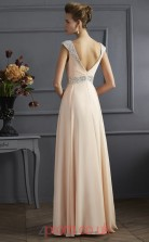 Light Champange Chiffon A-line Sweetheart Floor-length Evening Dresses(JT2760)