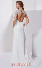 Ivory Chiffon Sheath/Column Sweetheart Floor-length Evening Dresses(JT2770)