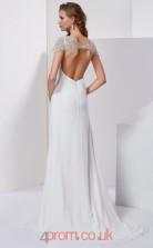 Ivory Chiffon Sheath/Column Sweetheart Floor-length Evening Dresses(JT2770)