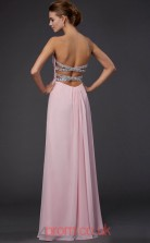 Blushing Pink Chiffon Sheath/Column Sweetheart Floor-length Prom Formal Dresses(JT2789)