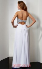 Ivory Chiffon Sheath/Column Sweetheart Floor-length Evening Dresses(JT2791)