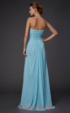 Light Pool Chiffon Sheath/Column Sweetheart Floor-length Evening Dresses(JT2793)