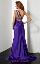 Purple Chiffon Trumpet/Mermaid One Shoulder Floor-length With Split Side Evening Dresses(JT2799)