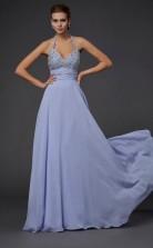 Lilac Chiffon A-line Halter Floor-length Bridesmaid Dresses(JT2810)