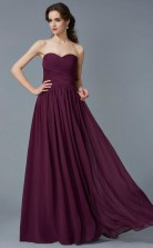Ivory Chiffon A-line Sweetheart Floor-length Prom Formal Dresses(JT2820)