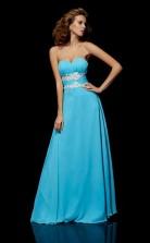 Pool Chiffon A-line Sweetheart Floor-length Prom Formal Dresses(JT2839)