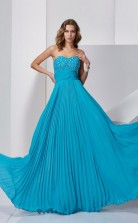 Ocean Blue Chiffon A-line Sweetheart Floor-length Bridesmaid Dresses(JT2879)