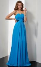 Black Chiffon A-line Sweetheart Floor-length Clearance Prom Dresses(JT2886)