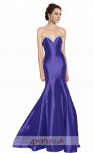 Blue Taffeta Mermaid Sweetheart Long Prom Dress(JT3594)