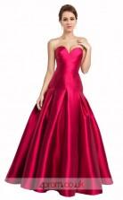 Violet Red Satin A-line Sweetheart Floor Length Prom Dress(JT3643)