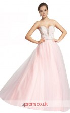 Candy Pink Tulle A-line Sweetheart Floor Length Prom Dress(JT3649)