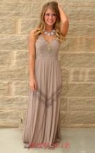 Dim Gray Lace Chiffon Trumpet/Mermaid V-neck Sweep Train Evening Dress(JT3828)