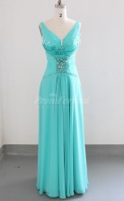 Chiffon V-neck Long Prom Dress(PRJT04-0942)