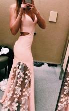 Sweet Pink  Prom Dress Antique Modest Beauty Long Prom Dress JTA1181