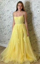 Scoop Chiffon Open Back White Long Prom Dress With Crystal JTA2111