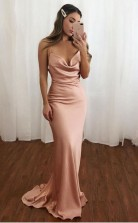 Scoop Beading Chiffon Green Long Evening Prom Dress JTA2121