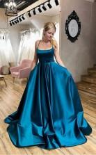 Sexy Sweethear Strapless Blue Organza Prom Dress JTA2401