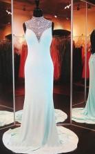 Sleeveless Chiffon BacklessLong Prom Formal Dress JTA3061
