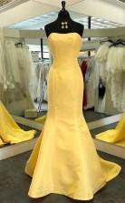 Mermaid Strapless Satin New Style Evening Dress Prom Dress JTA3461
