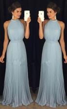 Halter Gorgeous High Neck Long Floor-Length Prom Dress JTA4631