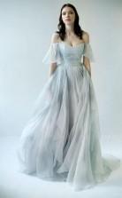 Scoop Split Side Royal Blue Criss-Cross Straps Satin Prom Dress JTA5001