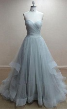 Chic Tulle Sweetheart Neckline Floor-length A Line Prom Dress JTA5091