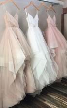 Spaghetti Chic Tulle Floor Length  Prom Formal Dress JTA5181