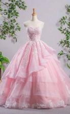 Sweetheart Pink A Line Lace Cheap Evening Dress Prom Dress  JTA5751