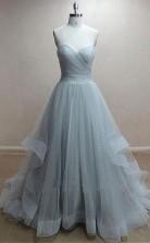 A Line Strapless Sweetheart Neck Mauve Long Prom Evening Dress JTA9591
