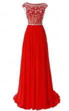 Glitter Princess Lace-Up Pink Long Prom Formal Dress JTB2131
