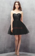 Black Tulle Princess Sweetheart Sleeveless Cocktail Dress(JT4-LFDZD148)