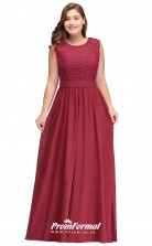 Burgundy Long  Jewel Bridesmaid/Party Dresses PPBD004