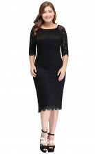 Black Ankle-length Long Sleeve Square Bridesmaid/Party Dresses PPBD012