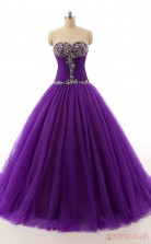 Regency Tulle Ball Gown Sweetheart Sleeveless Prom Ball Gowns(JT4-PPQC0017)