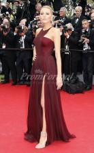 Palais des Festivals Blake Lively Sexy 30D Chiffon Burgundy Celebrity Dress Cannes Film Festival(PROSCD04-828)
