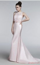 Blushing Pink Satin Trumpet/Mermaid Bateau Sleeveless Prom Dresses(JT4-3007)