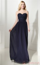 Navy Blue Lace Chiffon A-line Sweetheart Sleeveless Evening Dresses(JT4-06411)