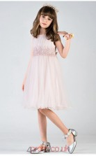 Chic Kids Girls Pink A Line Prom Dress ACH008