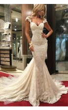 Charming Mermaid Luxurious Lace Wedding Dress BWD152