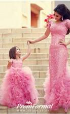 Princess Illusion Pink Kids Girls Dress CH0152